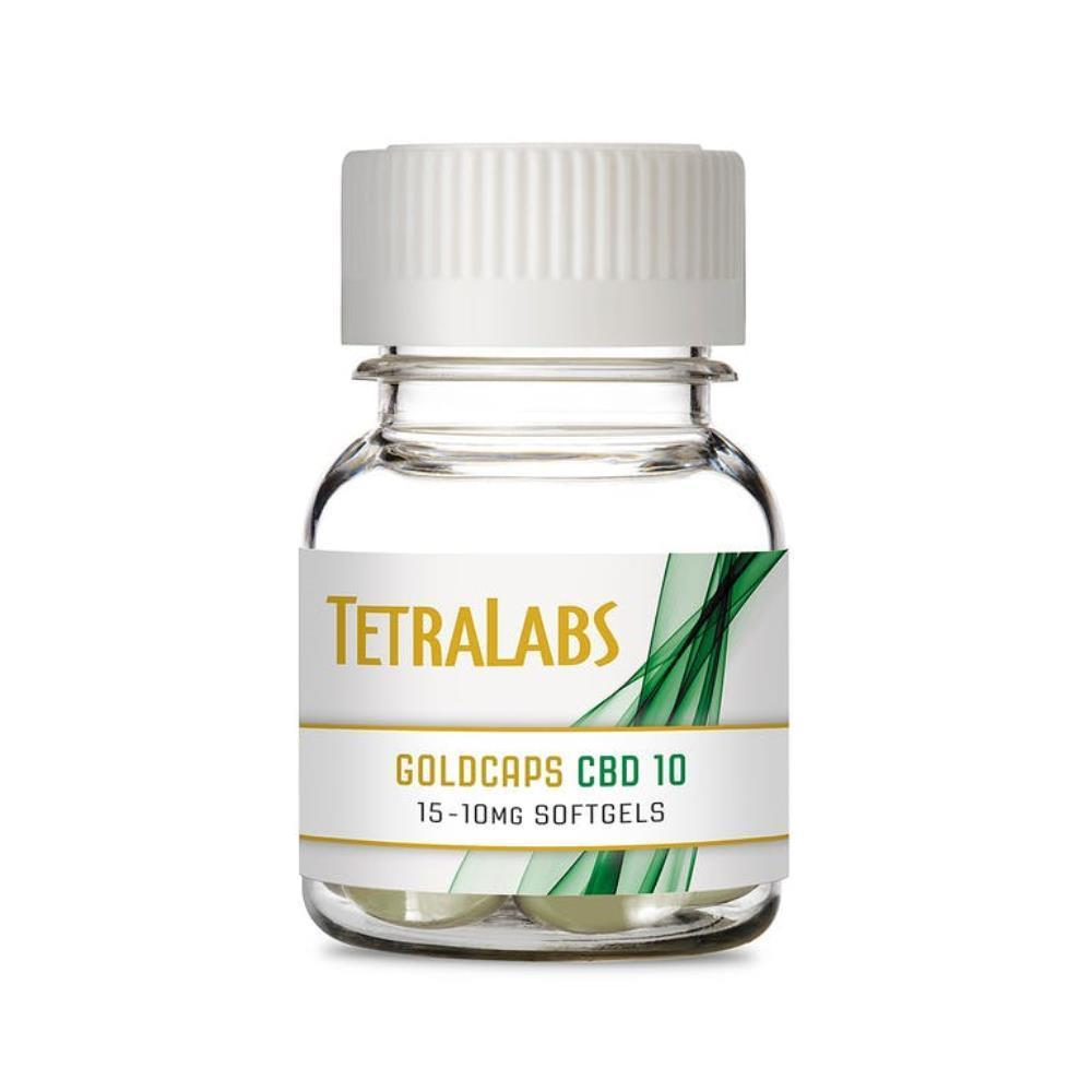 CBD (10mg CBD) | Tetra Labs GoldCaps | Softgel Capsules - Jane
